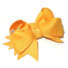 Spiky Bow Clip Gold