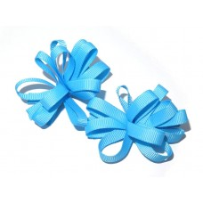 Korker Flower Clips Sky Blue