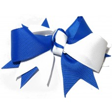 Spiky Clip Royal Blue White