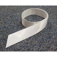 School Ribbon White 1.5 cm