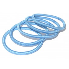 Thin Hair Tie Pack Sky Blue