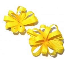 Korker Flower Clips Yellow
