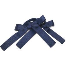 Pony Bows Navy Blue