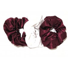 Scrunchie 3 Pack Maroon White