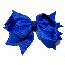XL Grosgrain Bow Clip Ryl Blue