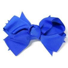 Spiky Bow Clip Royal Blue