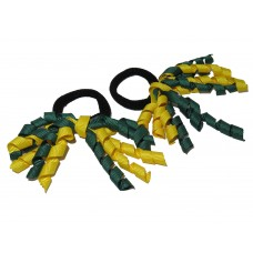 Korker Mini Ties Green Yellow