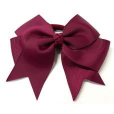 Large Grosgrain Bow Tie Maroon