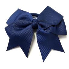 Large Grosgrain Bow Navy Blue